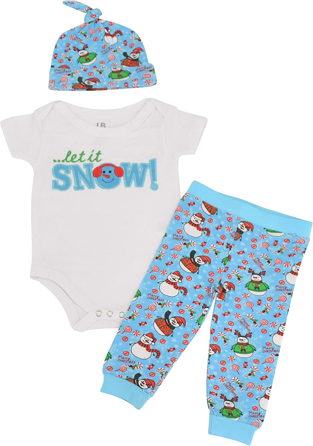 Unique Baby Unisex Christmas Outfit Pant Onesie Layette