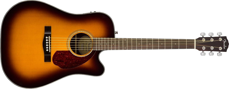 Fender CD-140SCE Sunburst + Estuche Rígido: Amazon.es: Instrumentos musicales