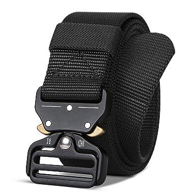 Tactical Belt for Men Women -1.5 quot  wide Black - Heavy Duty Nylon b5bf875537