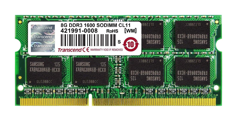 Transcend 8GB DDR3 1600 Laptop RAM