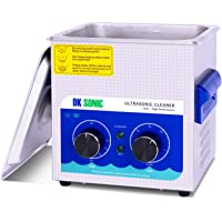Commercial Ultrasonic Cleaner - DK SONIC 2L 60W Sonic Cleaner with Heater and Basket for Denture,Coins, Small Metal…