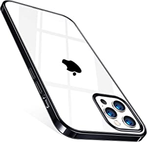 TORRAS Crystal Clear Designed for iPhone 12 Pro Max Case 6.7 Inch 5G (2020 Release), [10X Anti-Yellowing] Ultra Thin Slim Shockproof Flexible TPU Silicone Phone Case, Black