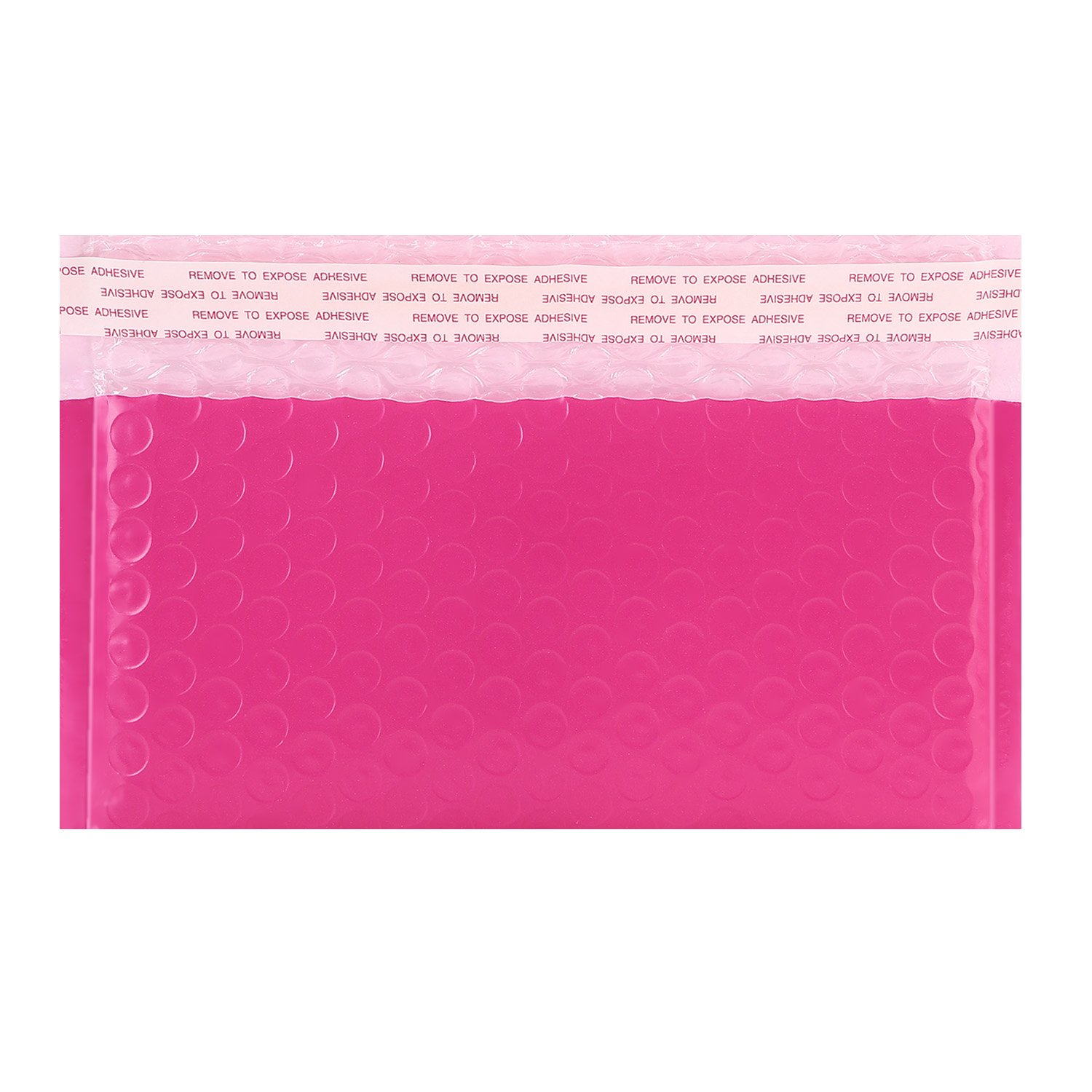 Hengu Pink Ploy Bubble Mailers #000 4x8 inch Opening for Side Loading Self-Seal Padded Shipping Envelops Pack of 25pcs