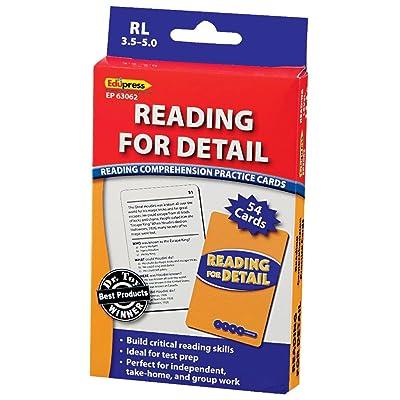 Edupress Reading Comprehension Practice Cards, Reading for Detail, Blue Level (EP63062): Toys & Games