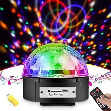 Discokugel, omitium Partylicht Musik Player Discolicht mit USB-Stick ...