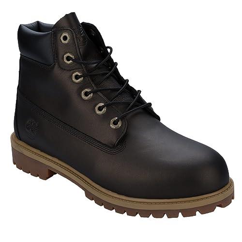 7582f2712db Timberland Junior Boys 6 Inch Premium Boots in Black-Primaloft   Insulation-Padde