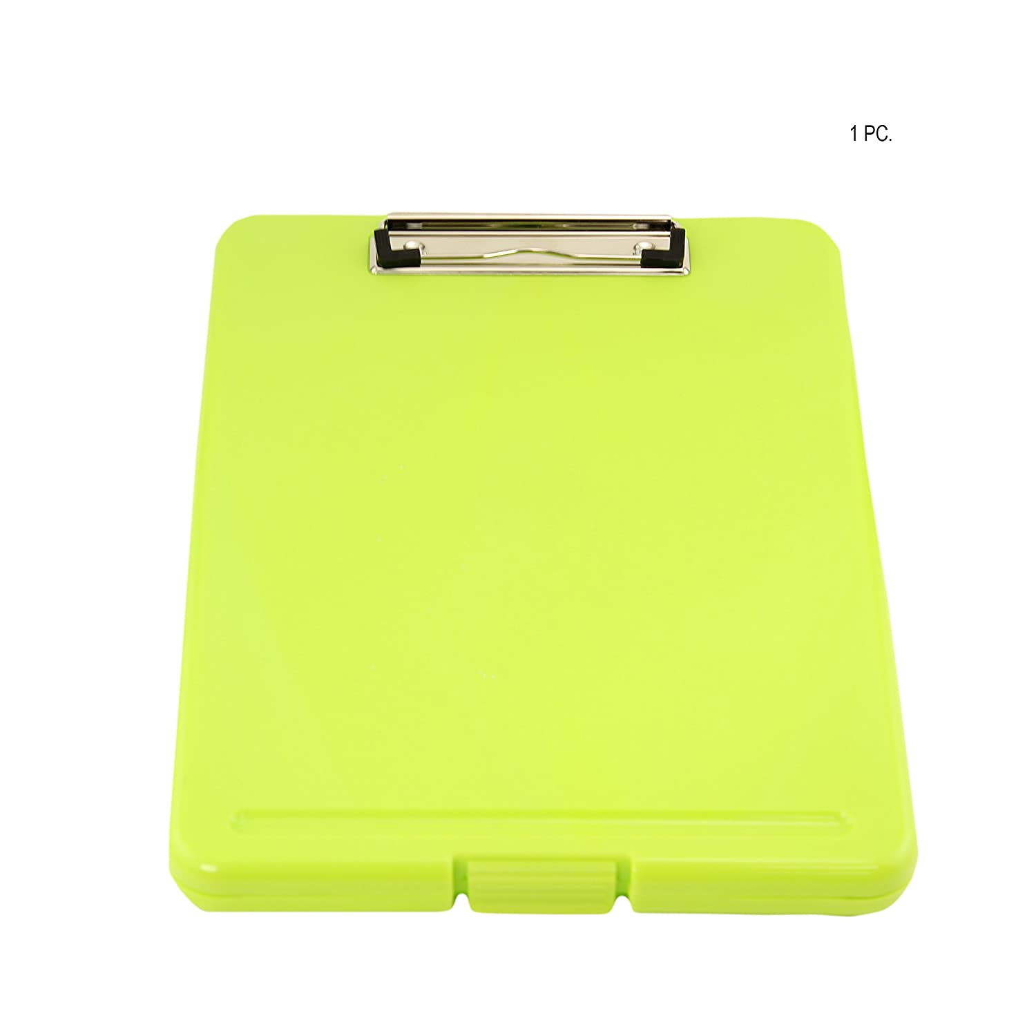 Adorox Set of 3 Legal Size Slim-case Storage Clipboard Teal Pink Neon Green Plastic Storage Clipboard for Students, Teachers, Sales, Utility, Industrial, Office Professional (Multicolored)