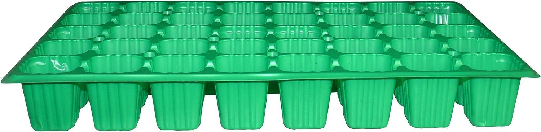 Flower 90122 90122-Bandeja semilleros, 100 Unidades, 40 cavidades, Color Verde, Negro, 50x6.5x30 cm