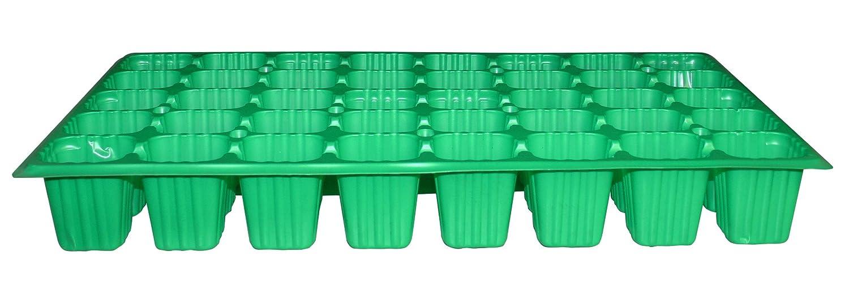 Green Pack of 100 /Seedlings Tray Flower 90122/ 40/Cavities