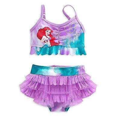 9c11b00692c9e Disney Store Little Girls Ariel Glitter Accents Swimsuit - 2-Piece, Size 4