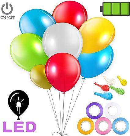 Amazon.com: Globo con luz LED, tecnología mejorada, globos ...