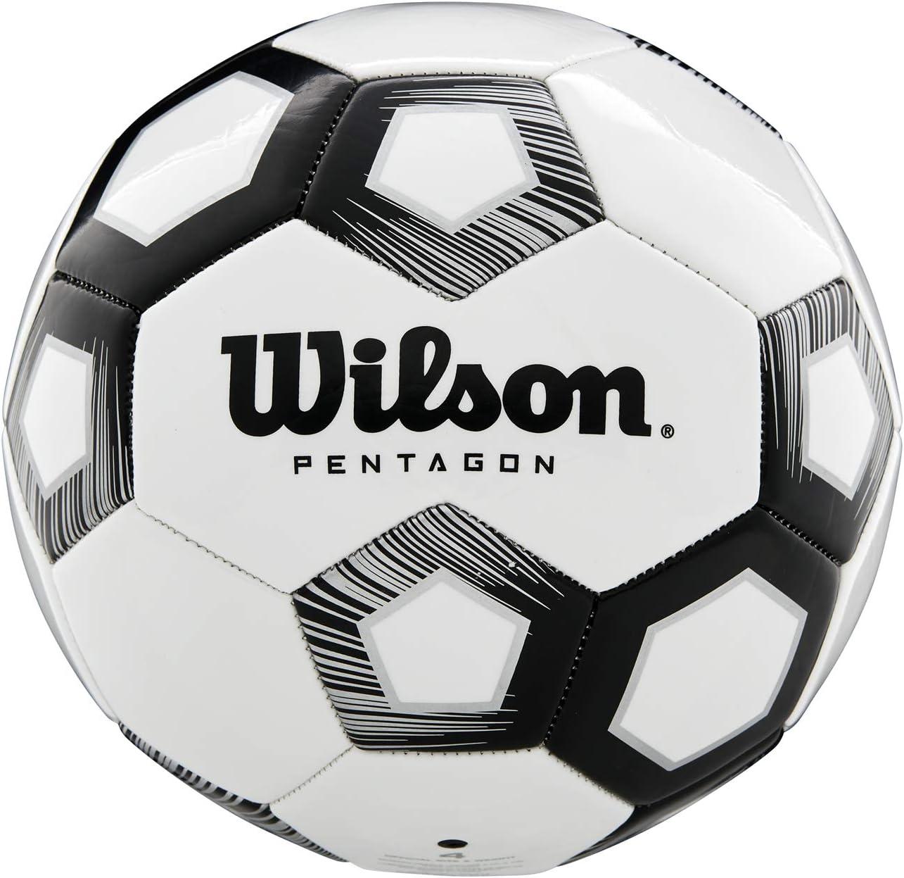 Wilson WTE8527XB05 Balón de Fútbol, Pentagon, Tamaño 5, Diseño de ...