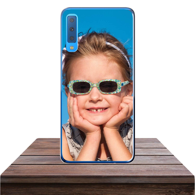Estuche Suave de Gel TPU Transparente Imagen o Escritura Funda Personalizada para Samsung Galaxy S9 Plus con tu Foto Impresi/ón
