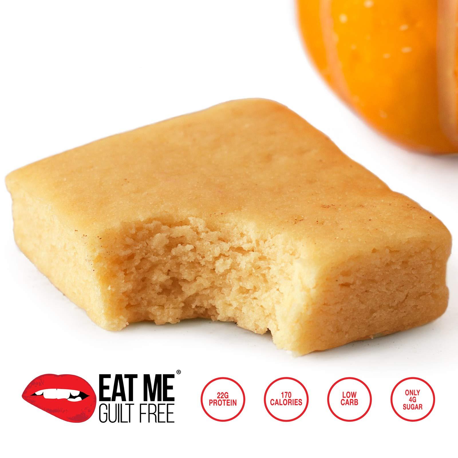High Protein, Low Carb, Flourless Pumpkin Spice Blondie Brownie
