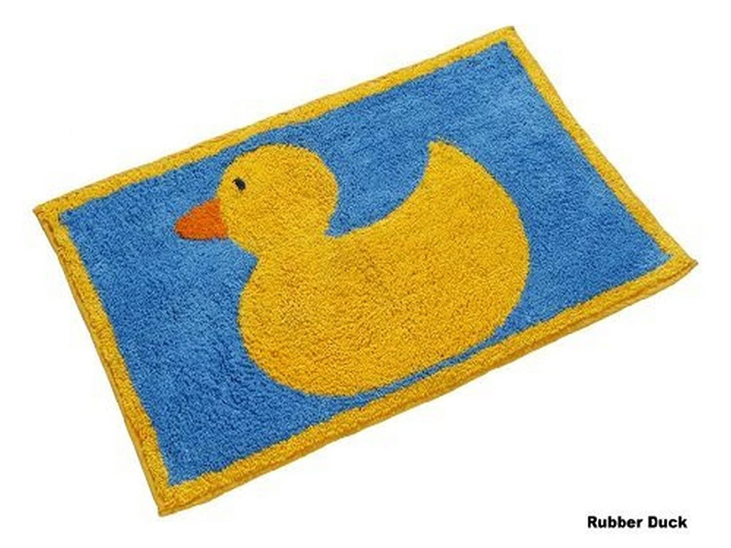 homescapes rubber duck bath mat 45 x 75 cm gsm rug in 100 cotton non slip spray back washable at home amazoncouk kitchen u0026 home