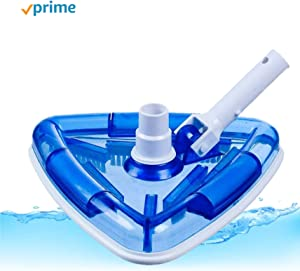 WavePool USA Original Triangle Sea-Thru Weighted Spa and Pool Vacuum Head, with Swivel Hose Connection and EZ Clip Handle – 11 inch-Wide Cleaning Surface - Safe for Vinyl Lined Pools