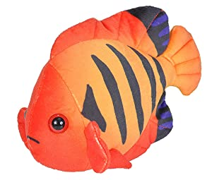 Wild Republic Angelfish plush, Stuffed Animal, Plush Toy, Gifts for Kids, Sea Critters 8 inches
