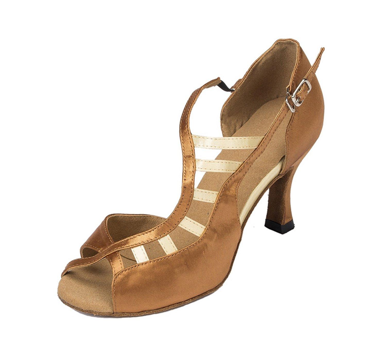 Minitoo cm-chaussures danse-Chaussures à 3 cm-chaussures 19992 à talons pour femme en Satin pour Mariage Soirée danse-Chaussures Sandales-Latine Marron 8507154 - latesttechnology.space