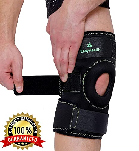 Buy easyhealth open patella stabilizer with adjustable strapping easyhealth open patella stabilizer with adjustable strapping extra thick neoprene knee sleeve ccuart