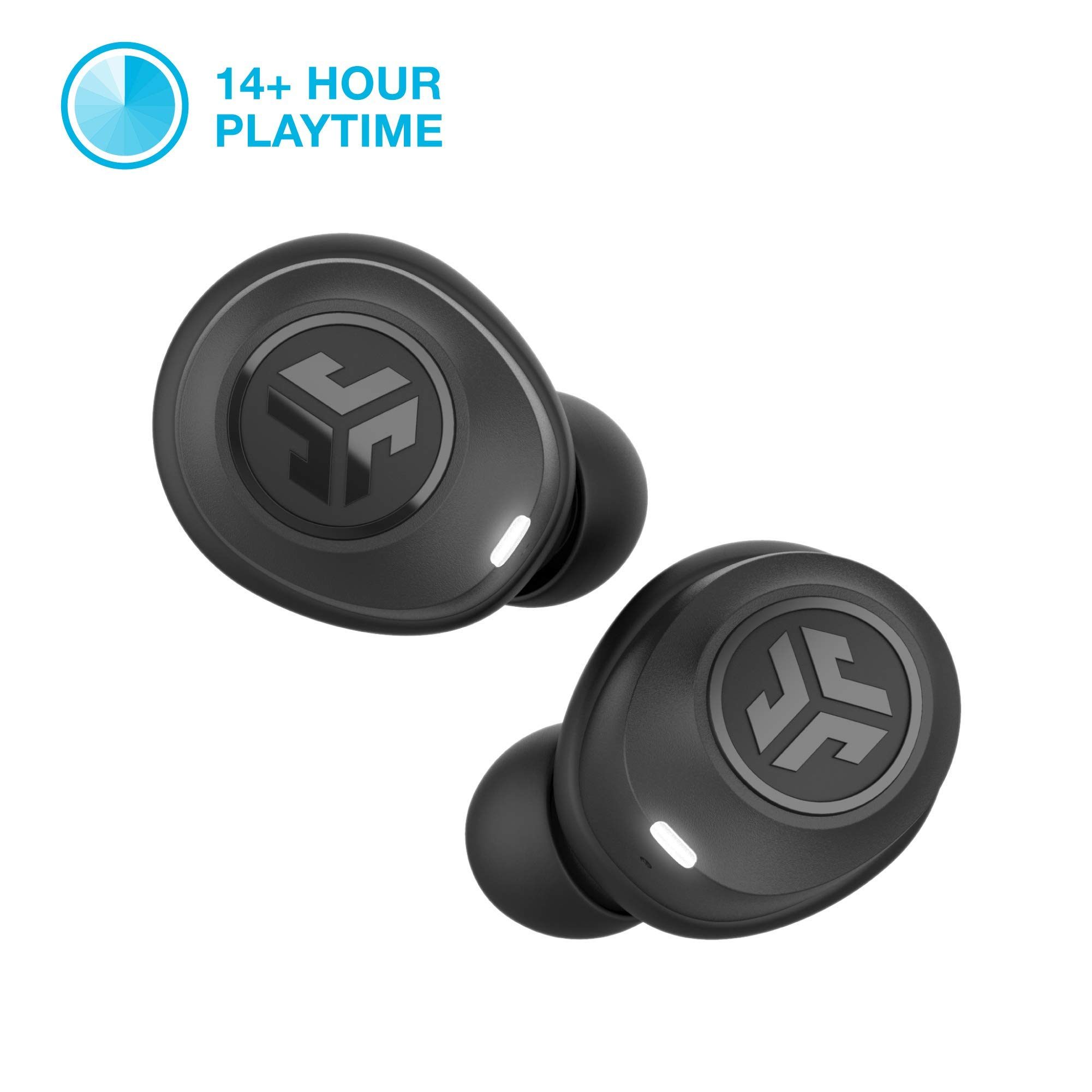 JLab Audio JBuds Air True Wireless Signature Bluetooth Earbuds, Charging Case, Black, IP55 Sweat Resistance, Bluetooth 5.0 Connection (Renewed) by JLAB