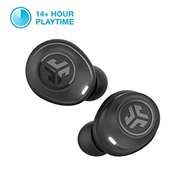 J Lab Audio J Buds Air True Wireless Signature Bluetooth Earbuds, Charging Case, Black, Ip55 Sweat Resistance, Bluetooth 5.0 Connection (Renewed) by Amazon Renewed