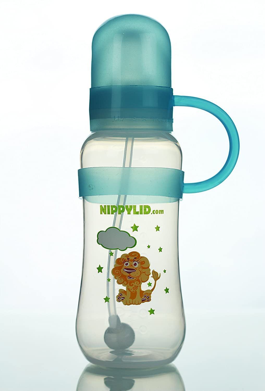 2019人気の Eco Friendly BPA Free Baby Bottle With Flow Straw BPA and Included Blue Silicone NippyLid (Patent Pending) Slow Flow Nipple Included NEVER LOSE THE LID AGAIN! by NippyLid B016TW4H0Q, 福山町:4882b716 --- arianechie.dominiotemporario.com
