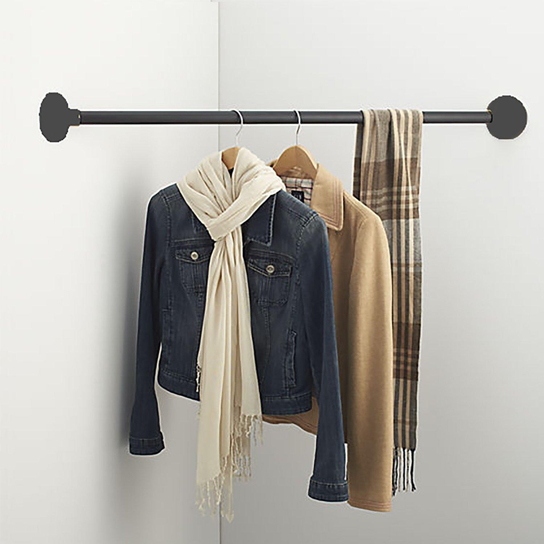 "Hanging Bars 43"" Iron Wardrobe Assistant Corner"