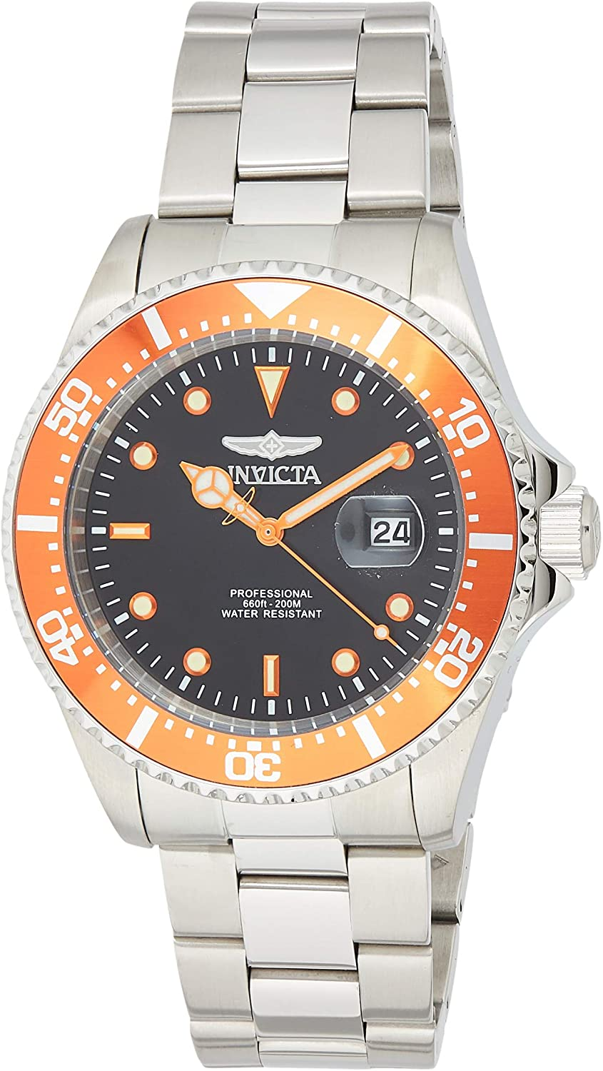 Invicta Men s Pro Diver Quartz Diving Watch with Stainless-Steel Strap, Silver, 9 Model 22022