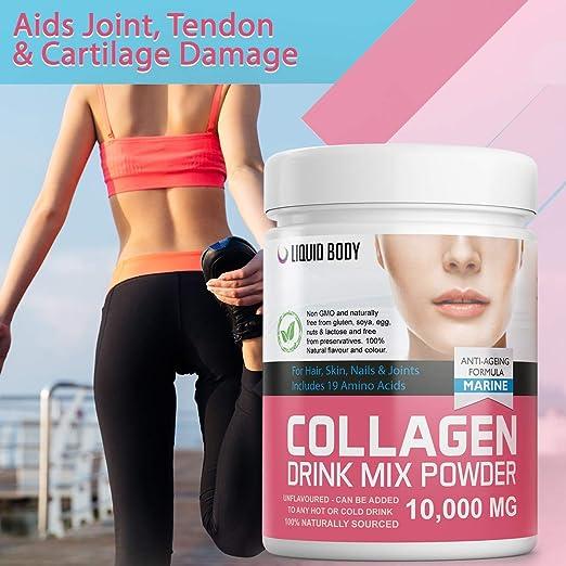 Liquid Body Polvo de colágeno marino premium con Halal ...