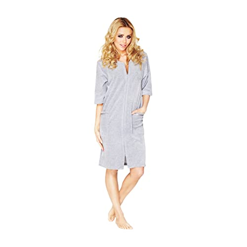 Velour Dressing Gown: Amazon.co.uk