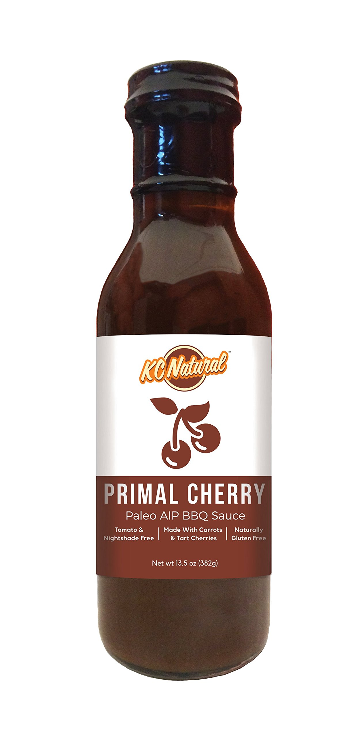 KC Natural - Paleo AIP Barbecue Sauce, Primal Cherry, 14 oz (1 pack)