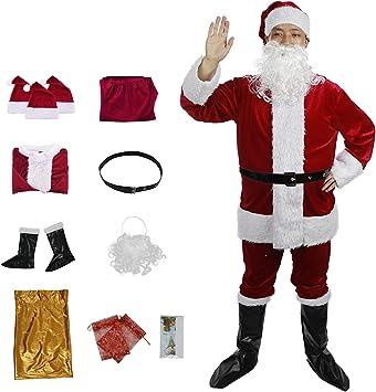 C-Oral Disfraz de Papá Noel para Adulto (12 Piezas), Costume Santa ...