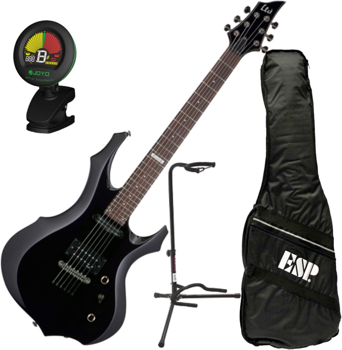 Esp Ltd F-10 BLK f-shape Kit de guitarra eléctrica Negro w/bolsa ...