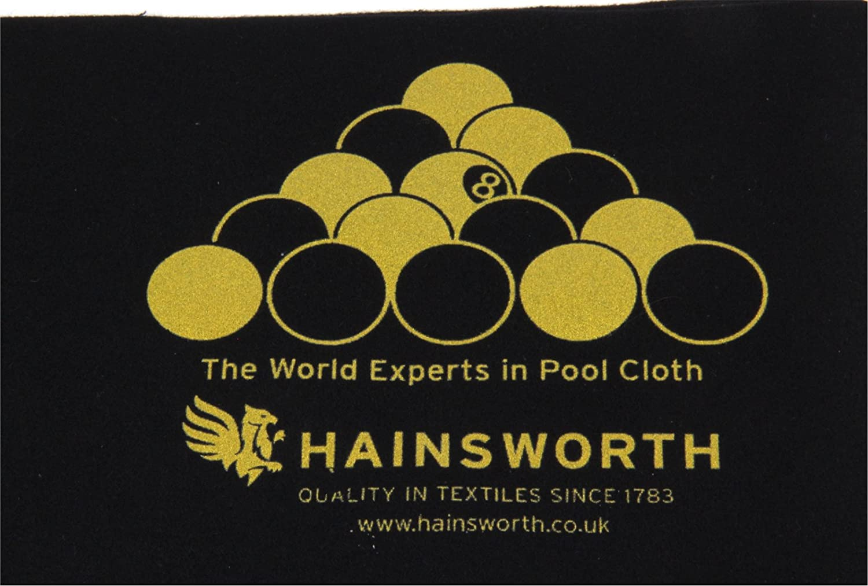 Black Hainsworth BLACKBALL RULES Pool Table Racking Cloth