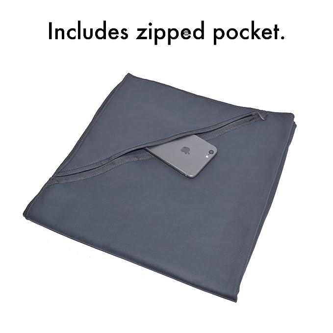 Toalla Microfibra de secado rápido Nomalite | Toalla de viaje, compacta (60x120cm), suave y absorbente. Ideal para la playa o piscina, deporte (gimnasio o ...
