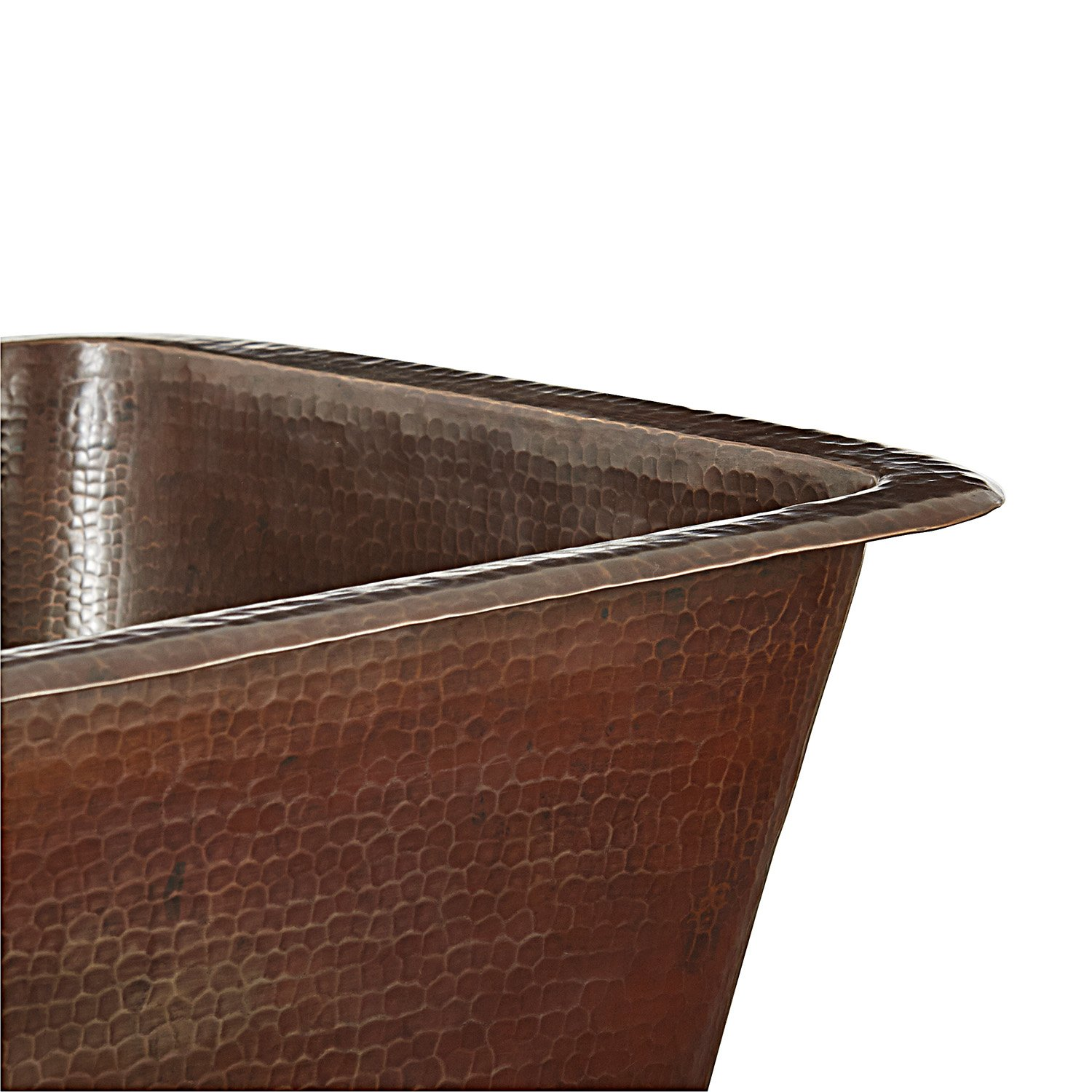 Sinkology SP501-15AG Greco Dual Mount Handmade Pure Solid Prep Bar Sink, 15'', Aged Copper by Sinkology (Image #2)