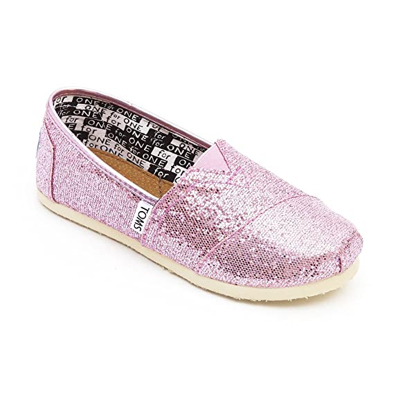 3e3b2e466bd3 Toms - Youth Classic Glitter Shoes in Pink