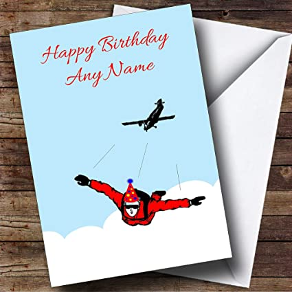Amazon com : Skydiving Personalized Birthday Greetings Card : Office