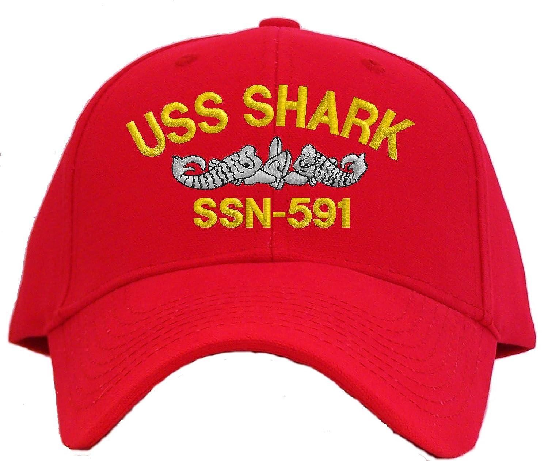 Spiffy Custom Gifts USS Shark SSN-591 Embroidered Pro Sport Baseball Cap
