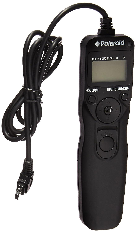 Polaroid Shutter Release Timer Remote Control For Nikon D90, D3100, D3200, D3300, D5000, D5100, D5200, D5300, D7000, D7100, D750, DF, D600, D610, P7700, P7800 Digital SLR Cameras PLRTN