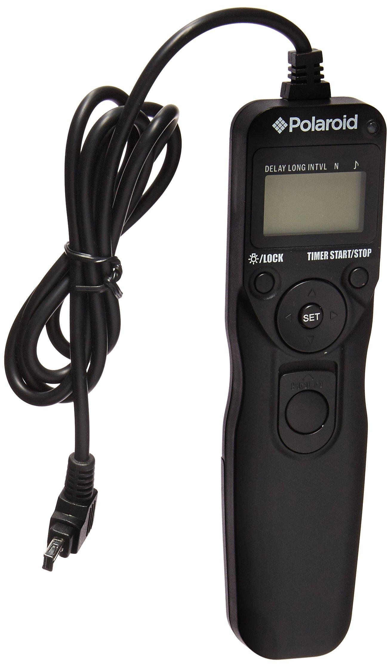 Polaroid Shutter Release Timer Remote Control For Nikon D90, D3100, D3200, D3300, D5000, D5100, D5200, D5300, D7000, D7100, D750, DF, D600, D610, P7700, P7800 Digital SLR Cameras