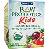 Garden of Life - RAW Probiotics Kids - Acidophilus and Bifidobacteria Organic Probiotic Supports Digestive Health and Immune System -  Gluten and Soy-Free, Certified Organic - 3.4 oz
