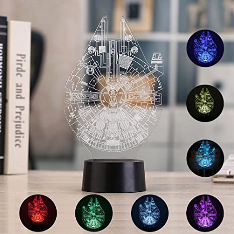 Illusion 3d night light, 7 colores cambiantes mesa escritorio ...