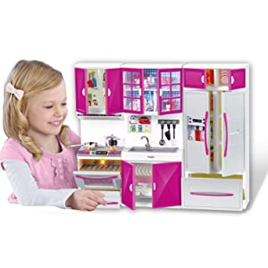 """Liberty Imports My Modern Kitchen Mini Toy Playset w/ Lights and Sounds, Perfect for 11-12"""" Dolls"""