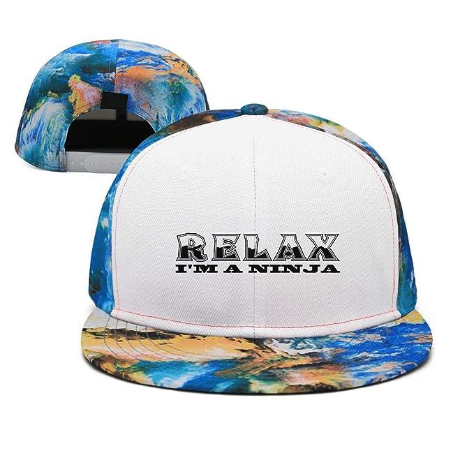 Relax Im A Ninja Man Hip hop Contrast Color Cap Snapback ...