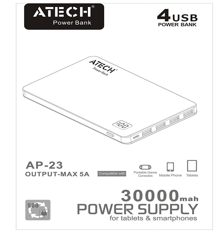 amazon com genuine 30000mah capacity slim portable power bank
