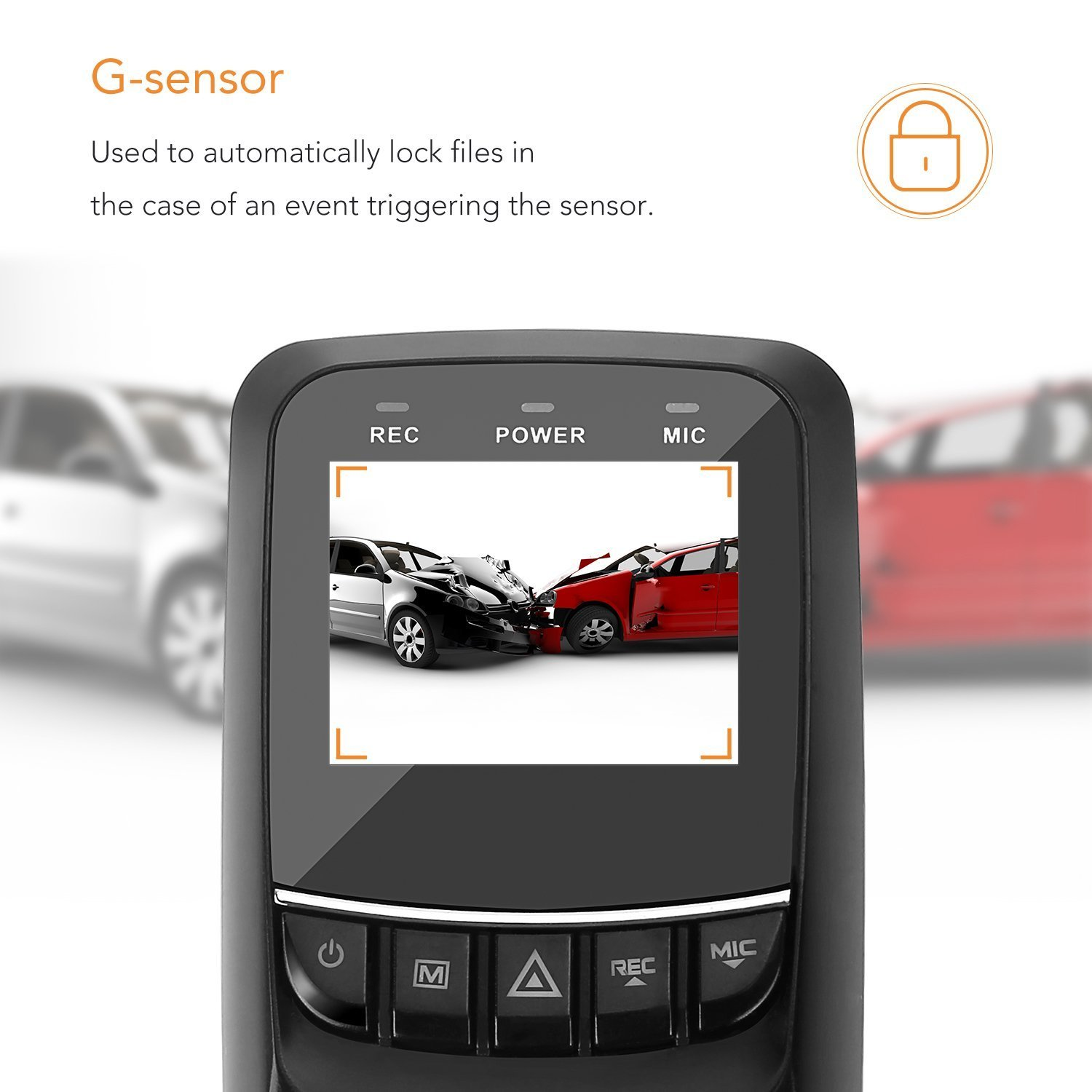 G-Sensor Lian LifeStyle Car Dash Cam 1.5 LCD FHD 1920p 170 Degree Wide Angle Dashboard Camera Recorder with Sony IMX323 Video Sensor WDR Loop Recording+16GB SD LY550S LLSLY LLSLY550S