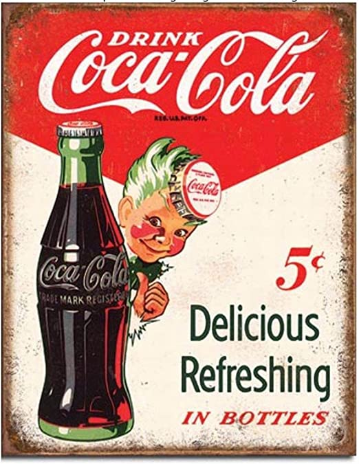 WE SELL COCA COLA EVERY DAY Collectible Tin Metal Sign Wall Garage Classic