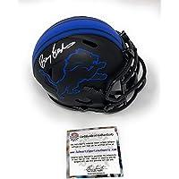$169 » Barry Sanders Detriot Lions Signed Autograph Rare ECLIPSE Speed Mini Helmet Schwartz…