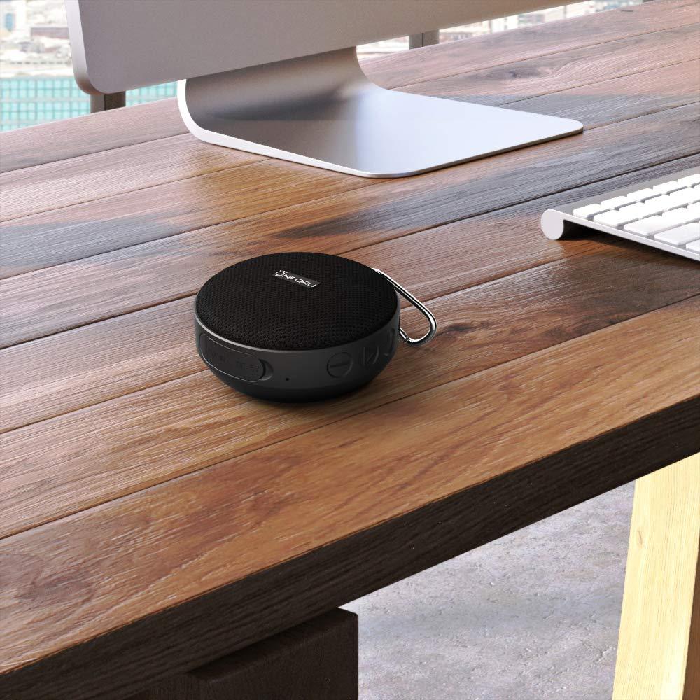 IPX7 Wasserdicht Bluetooth 5.0 Duschlautsprecher mit Fahrradhalter Onforu Bluetooth Lautsprecher Tragbar Wireless Speaker mit Freisprecheinrichtung f/ür Fahrrad Reise bis zu 10 Stunden Wiedergabe